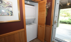 Laundry area in foyer